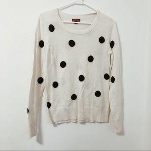 MERONA Black and White Polka Dot Sweater